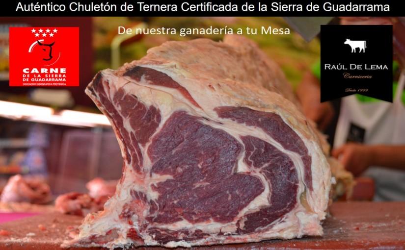 Chuletón de ternera de la Sierra de Guadarrama, una comida deliciosa