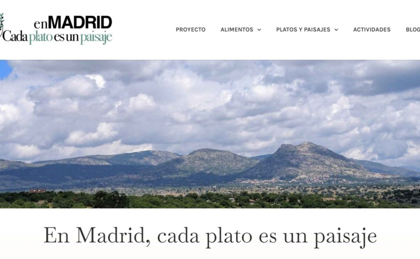 """Participamos el proyecto sostenible """"En Madrid, cada plato es un paisaje"""""""
