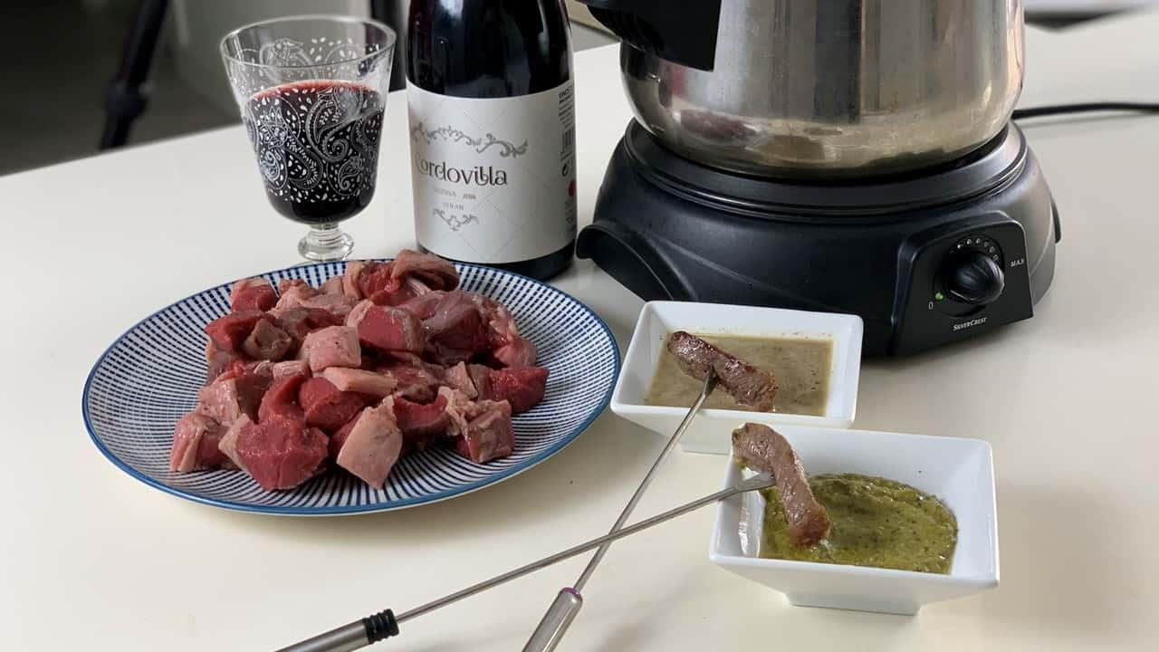 fondue carne ternera