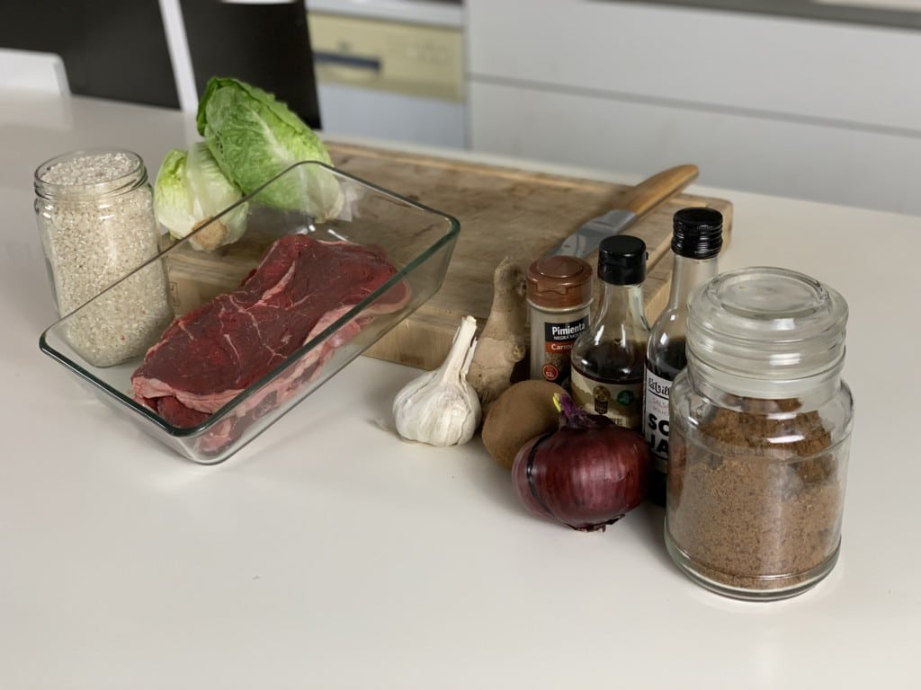 ingredientes saam de ternera