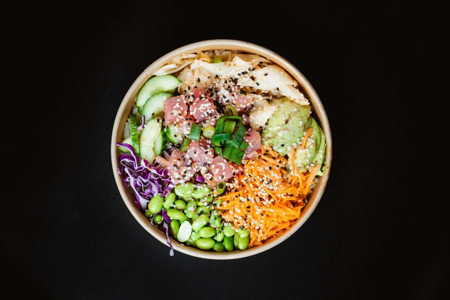 poke bowl carne ternera